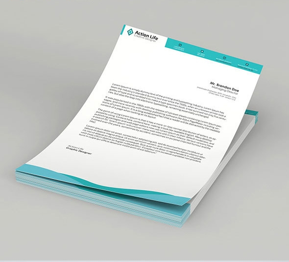 29 Corporate Letterhead Templates Doc Psd: 15 Free Vector PSD Company Letter Head Design Template