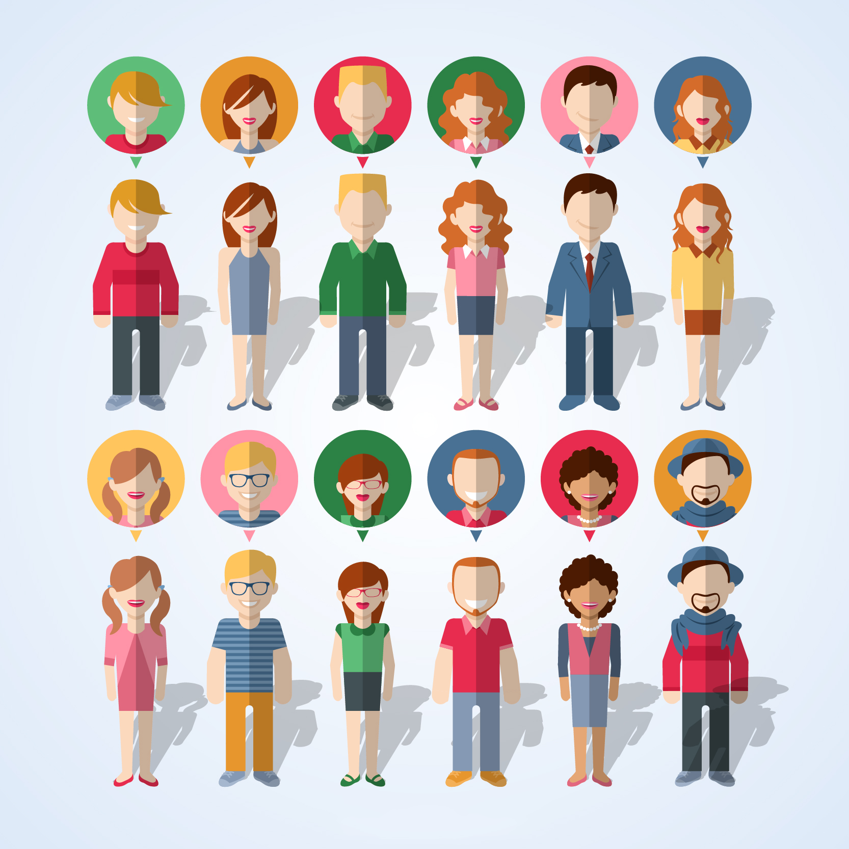 30+ Free Download Vector PSD People Avatars Set | Free & Premium ...