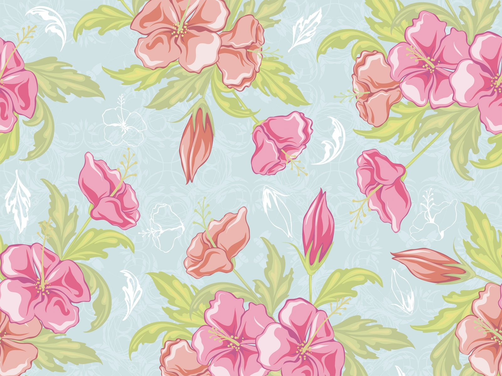Download Classic Floral Vintage Design Wallpaper