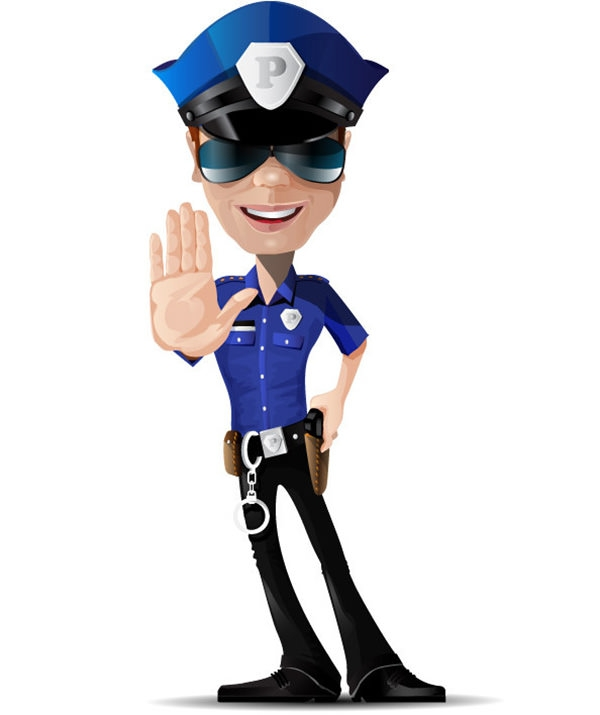 15+ Free Vector Police Cartoon Clipart