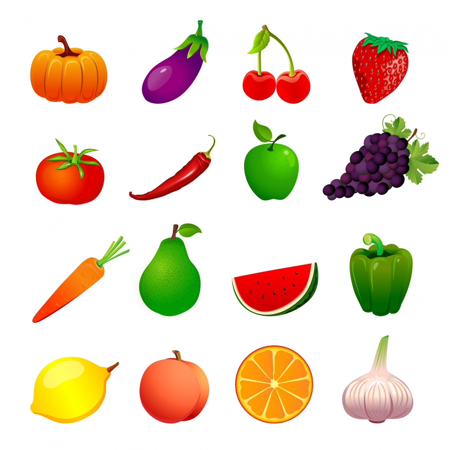Download 50+ Free Vector Fruits & Vegetables Icons