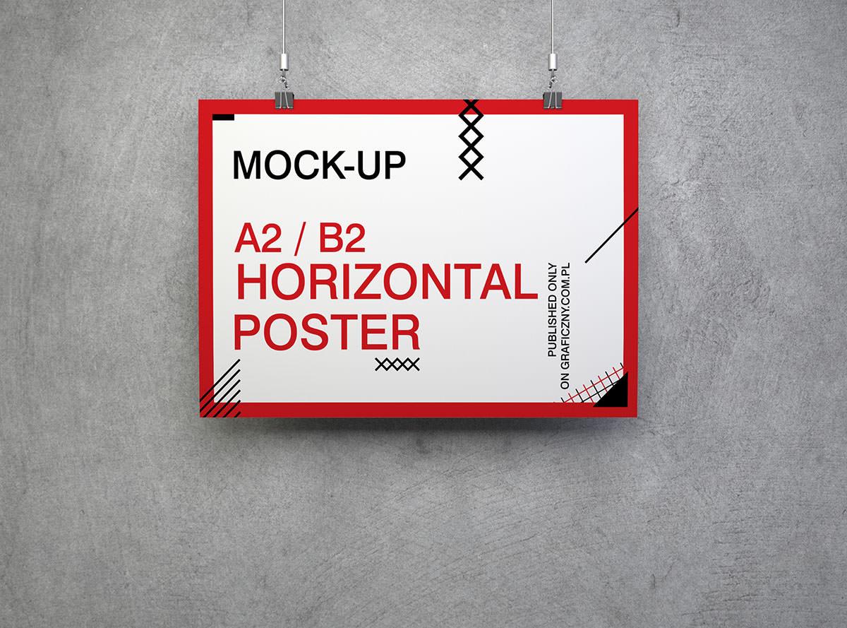 Download 8 Free Horizontal Poster Mockups
