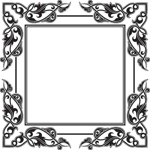 20 free vector vintage frame designs for Frame designs