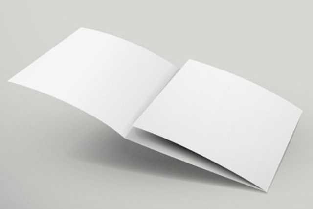 10 Free Vector Psd Blank Tri Folder Brochure Designs