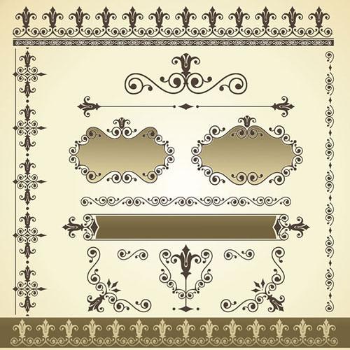 19 vintage border designs psd vector icons freecreatives for Classic border design
