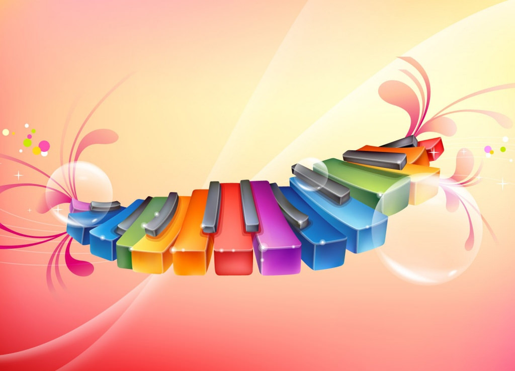 3d Colorful Music Notes Wallpaper: 20 HD Rainbow Background Images And Wallpapers