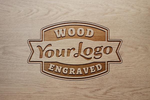 25+ Free PSD Wood Logo Mockups : Free u0026 Premium Creatives
