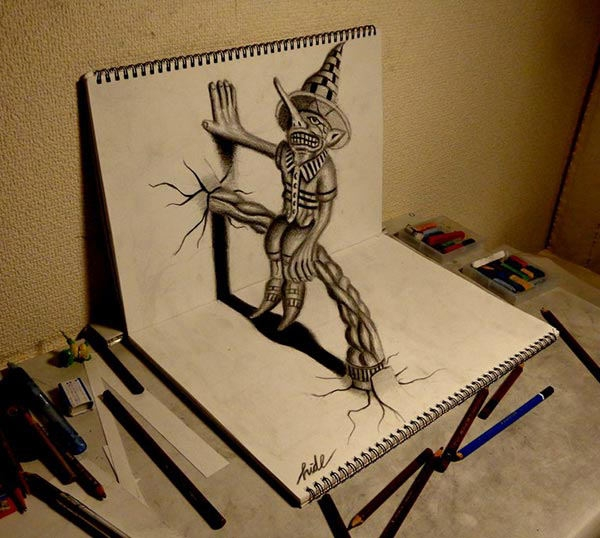 22 amazing collections of 3d pencil drawings freecreatives