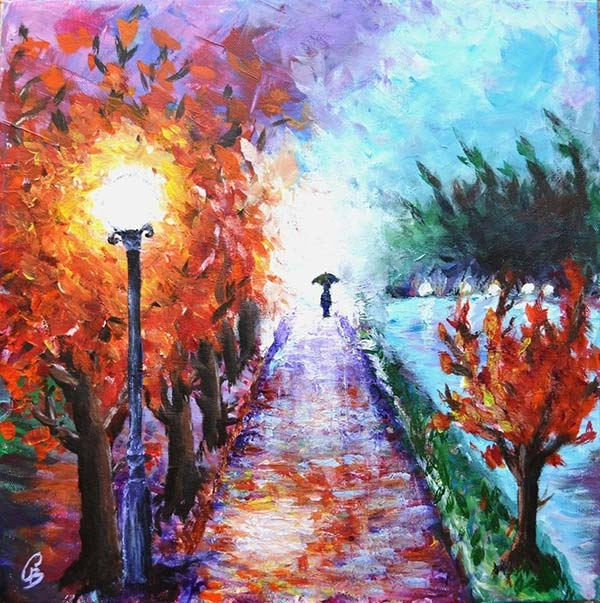15 beautiful acrylic paintings freecreatives for Pretty acrylic paintings