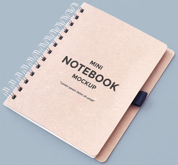 Logo Mockup With Emboss Logo: 15+ Free PSD Notebook Mockups