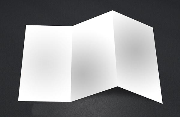 10 Free Vector Psd Blank Tri Folder Brochure Designs