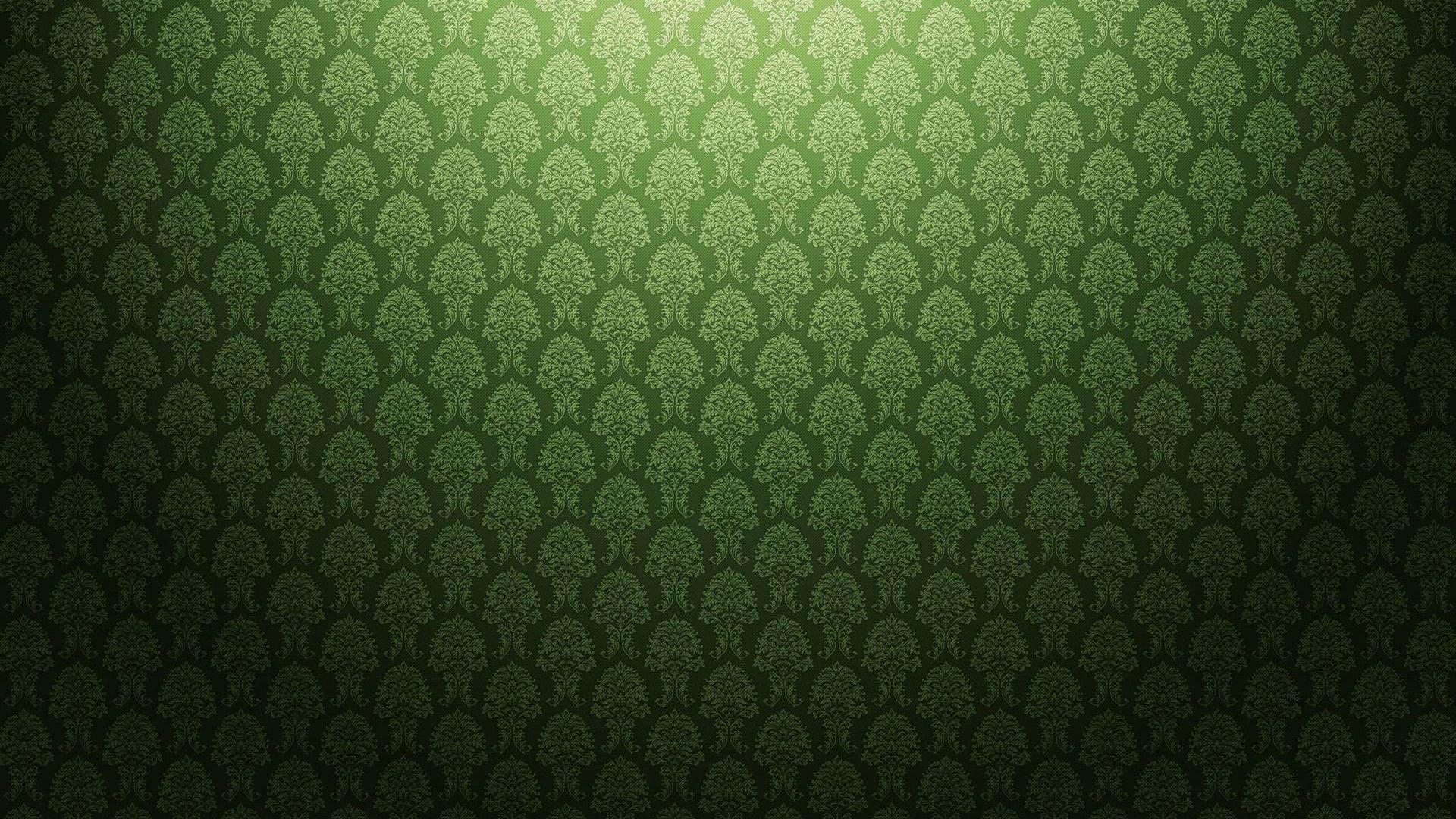 Green Floral Wallpaper on Number Lines