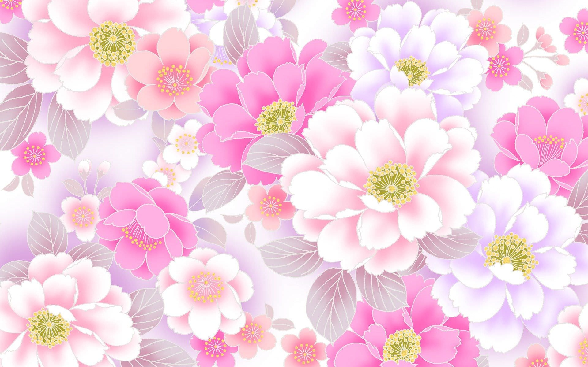 wallpaper pink flowered flower - photo #16