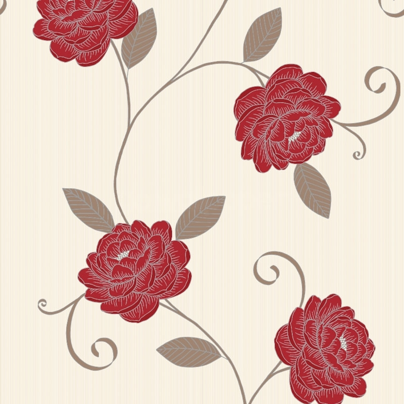 wallpaper vintage flowers cream - photo #5