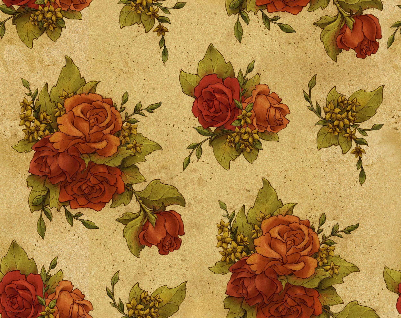 10 Dark Floral Wallpapers Floral Patterns Freecreatives