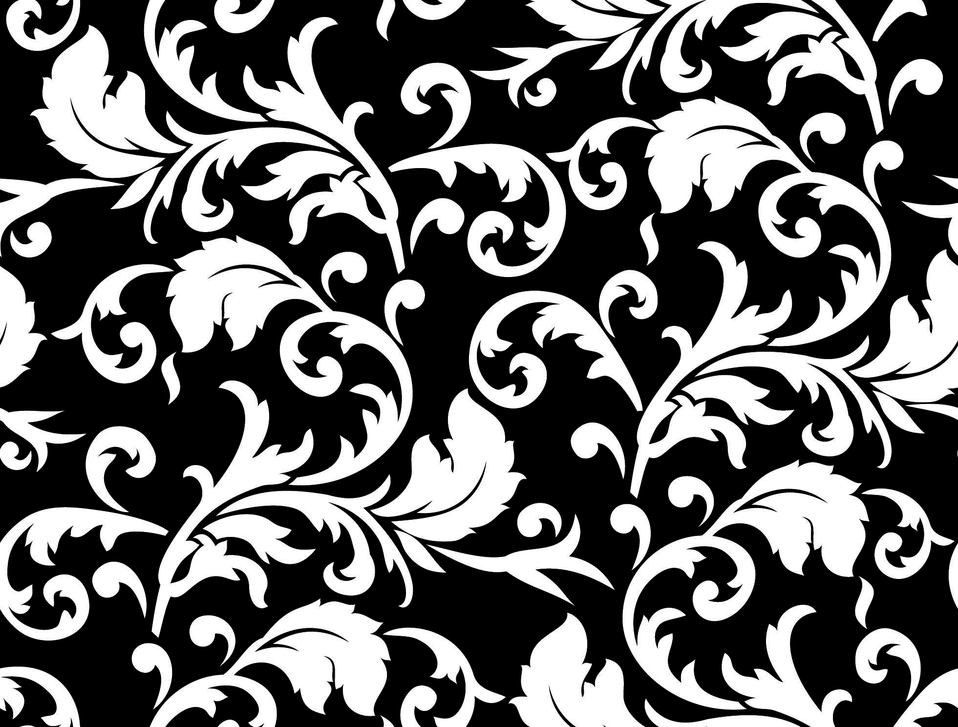 Black And White Floral Patterns