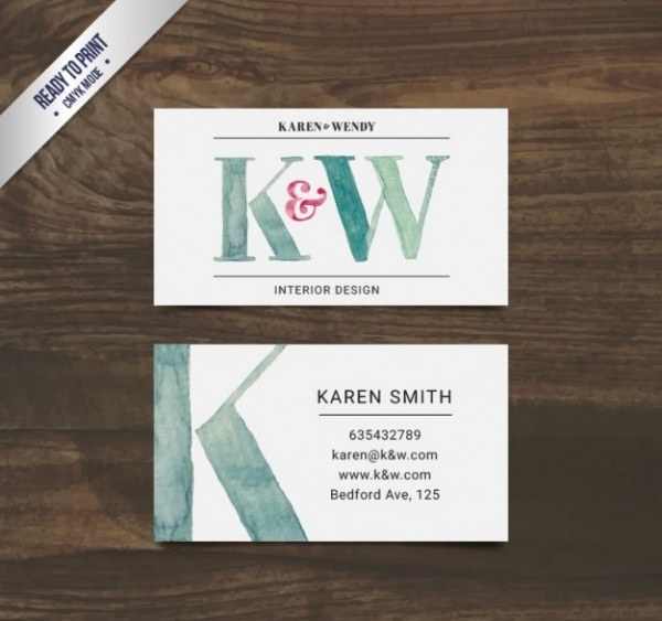 Hand-painted-interior-design-business-card Business Ideas For Interior Designers