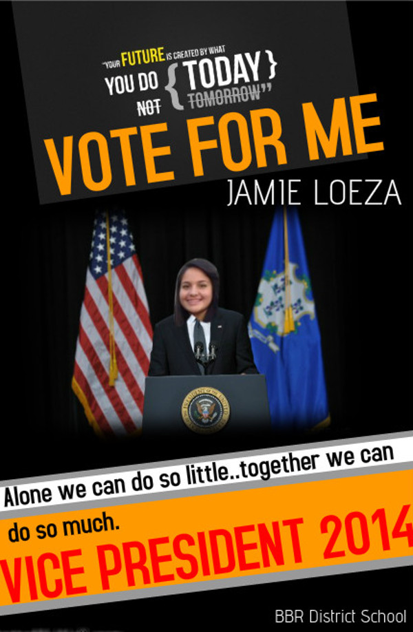 Free school election campaign poster template
