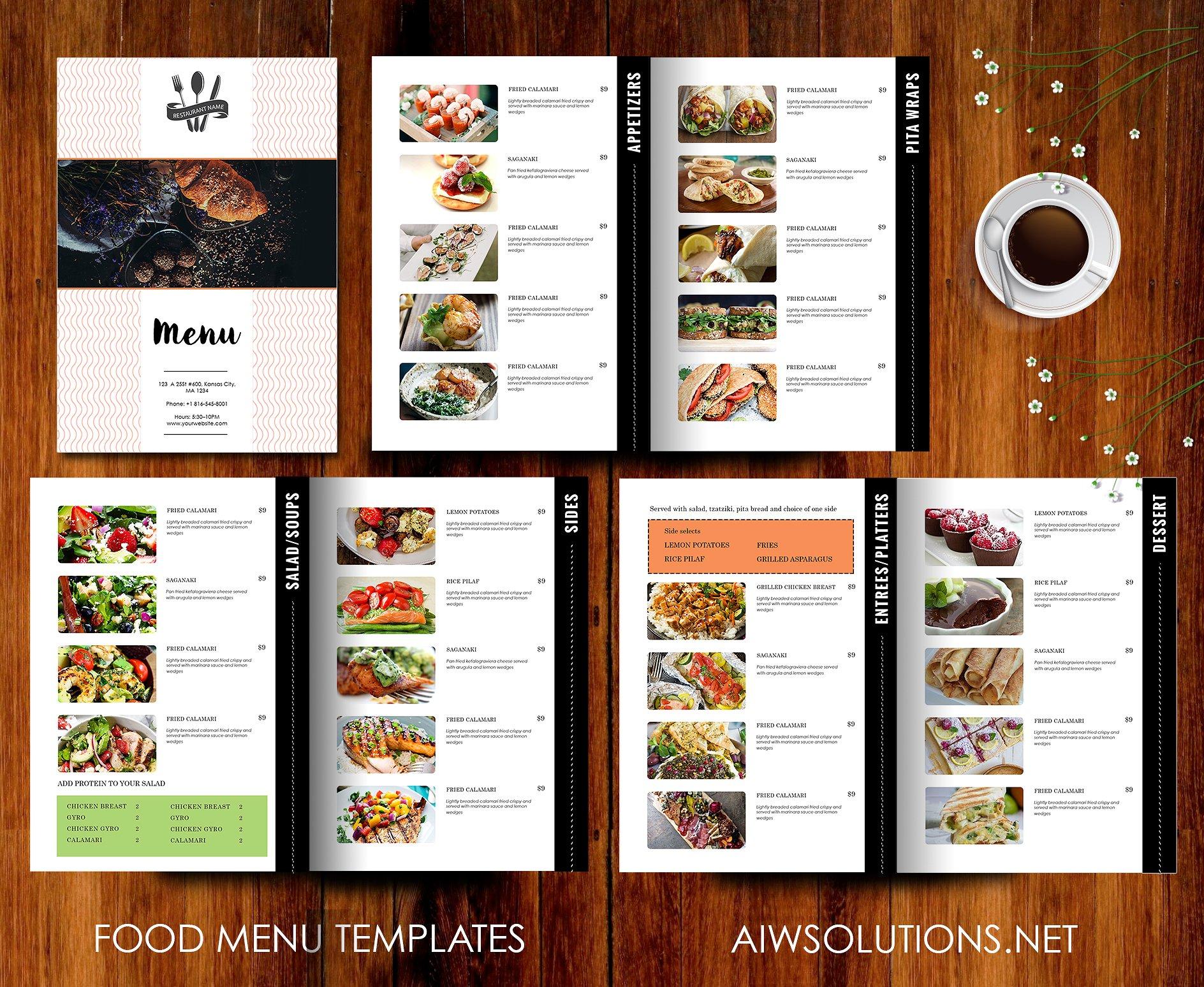 restaurant menu templates free | datariouruguay