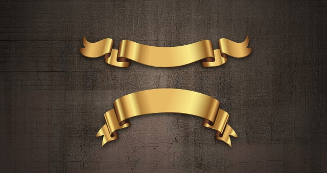 004-golden-banner-ribbon-vector-set