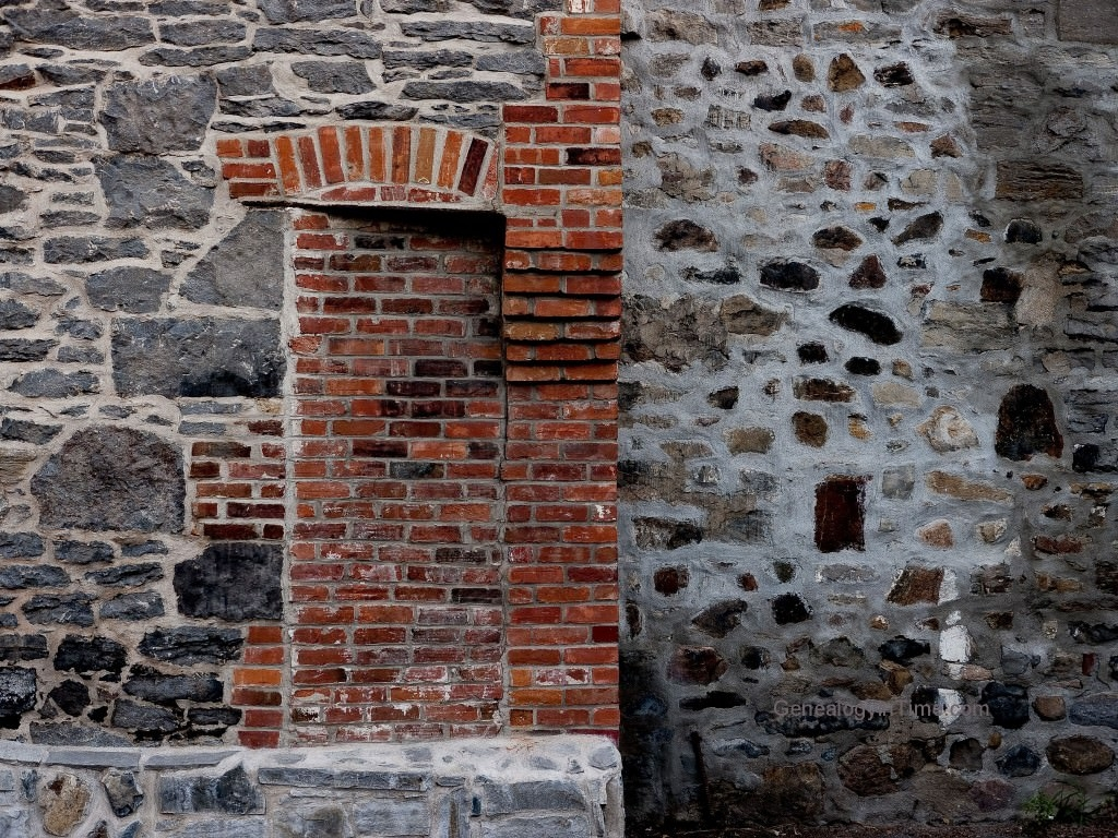 03 - bricked doorway in vintage stone wall