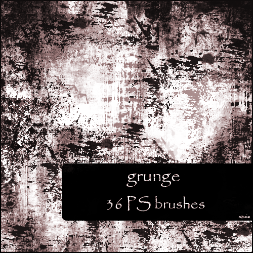 36 Grunge Brushes for Free Download