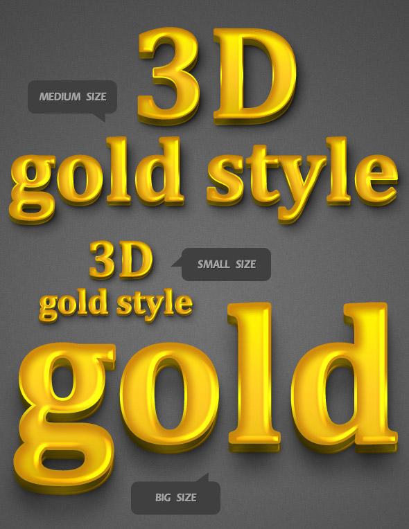 3D Golden Style