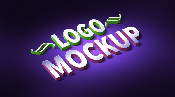 3D Logo text and mock up