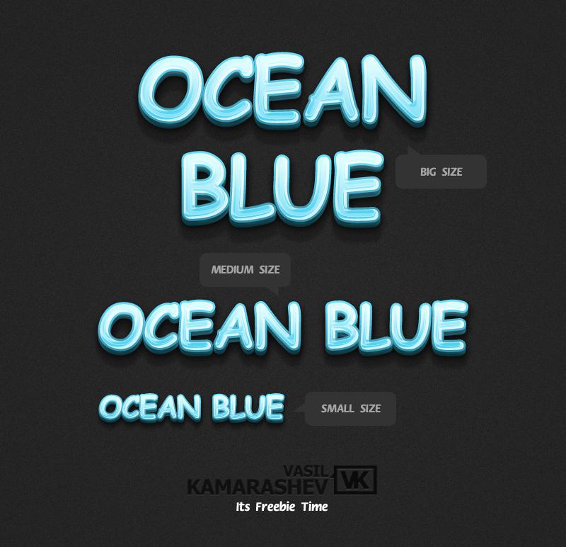 3D Ocean Blue