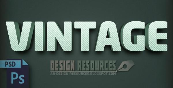 3D Vintage Style Text Effect