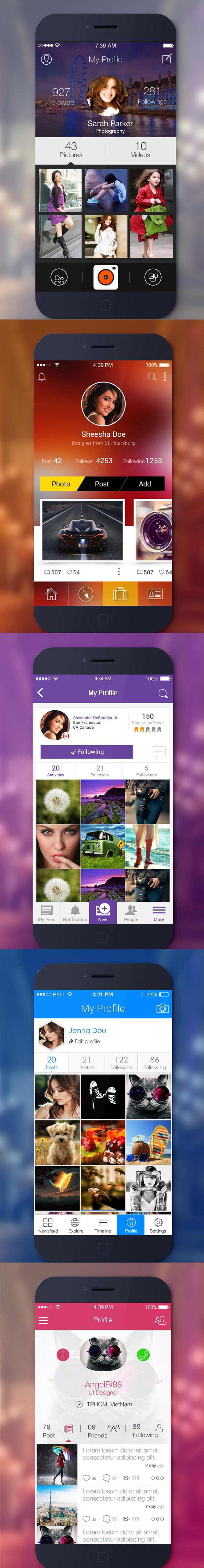 5-App-Profile-UI-PSD