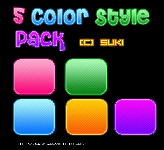 5_colour_style_pack_by_suki95-d4oq5or