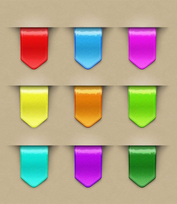 9 ribbons