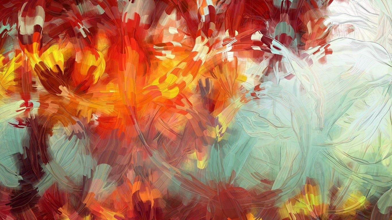 15 abstract art paintings for Abstract mural art