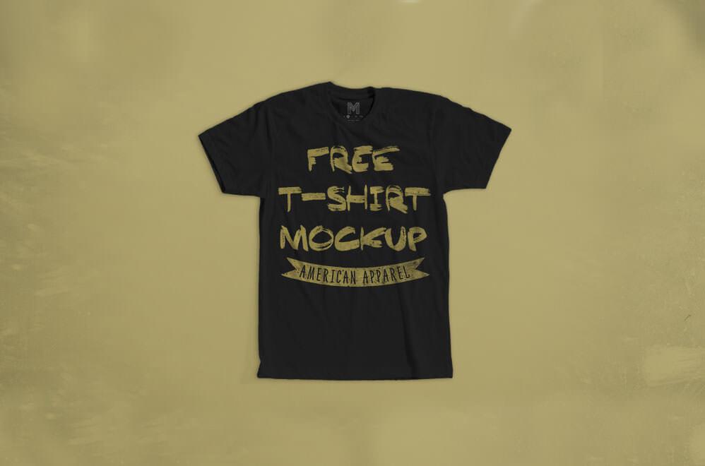 American Apparel T-Shirt Mockup
