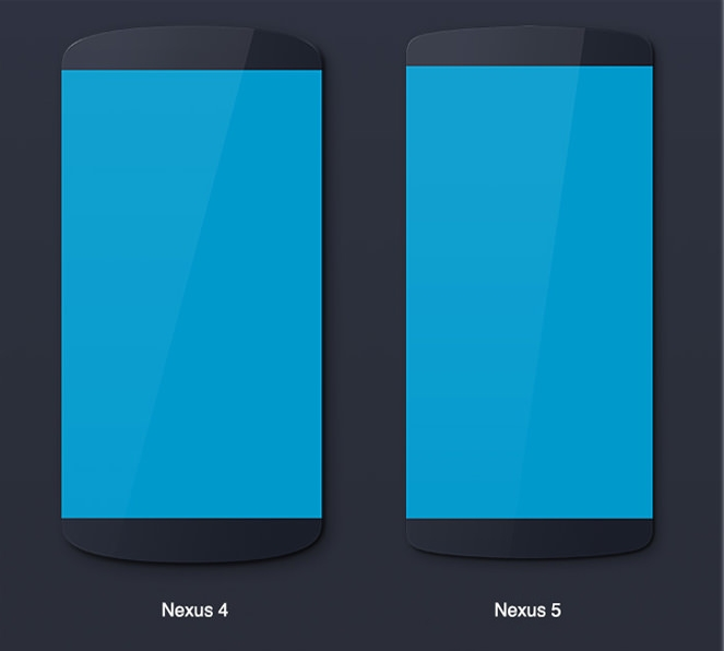 Android devices mockups (Nexus, LG, Galaxy) (2)