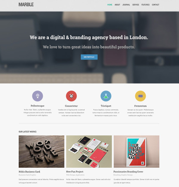Awesome Portfolio Website template