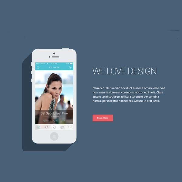 Aya – Modern Flat One Page PSD Template