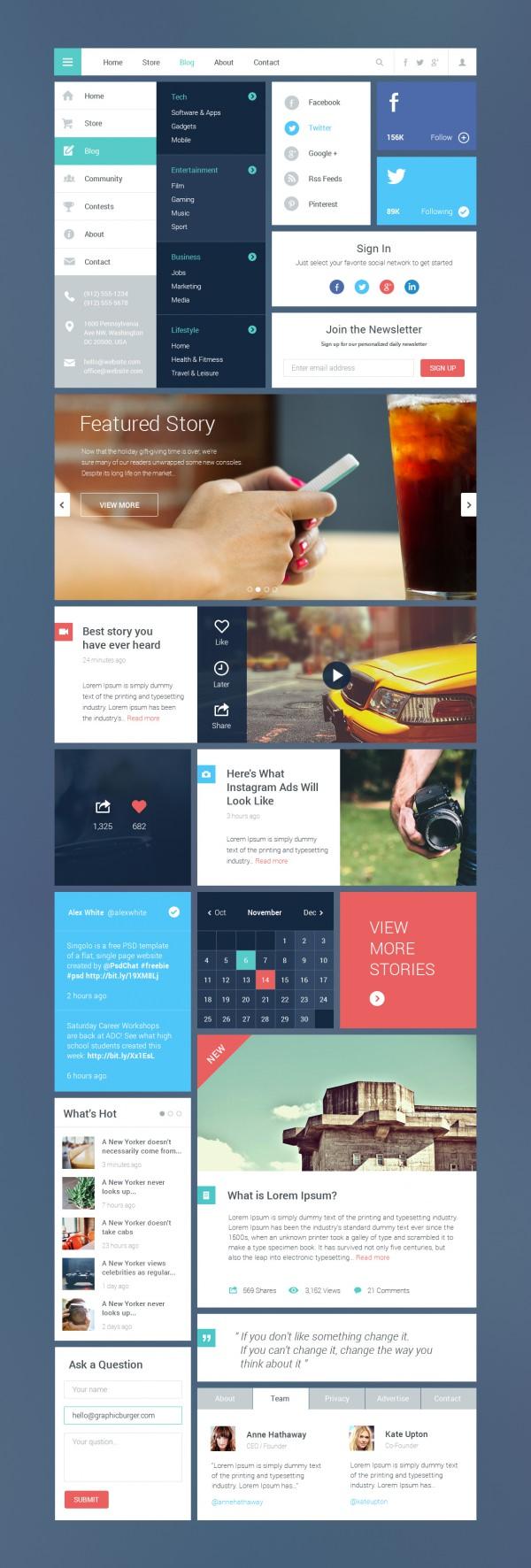 Blog & Magazine UI Kit
