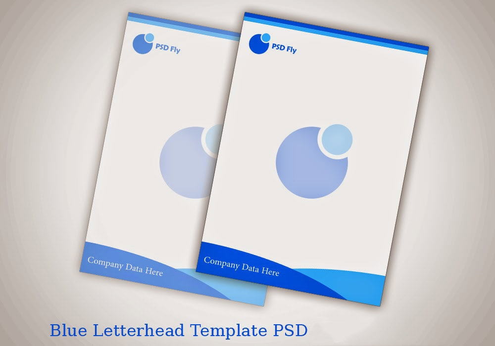 blue letter head template psd