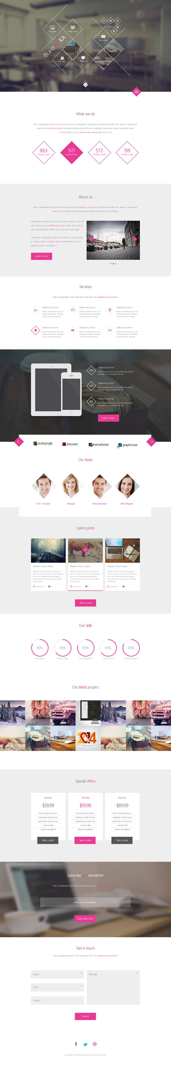 BrandaLoka-–-Creative-Onepage-PSD-Template