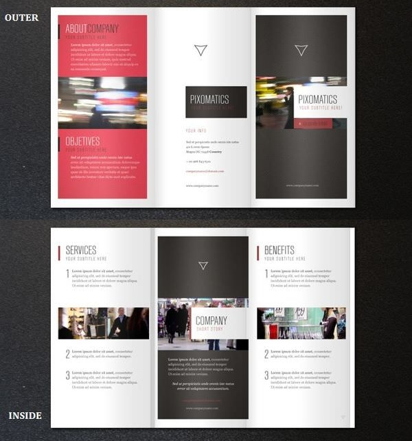TriFolder Brochure Mockups  Psd Vector Eps Jpg Download