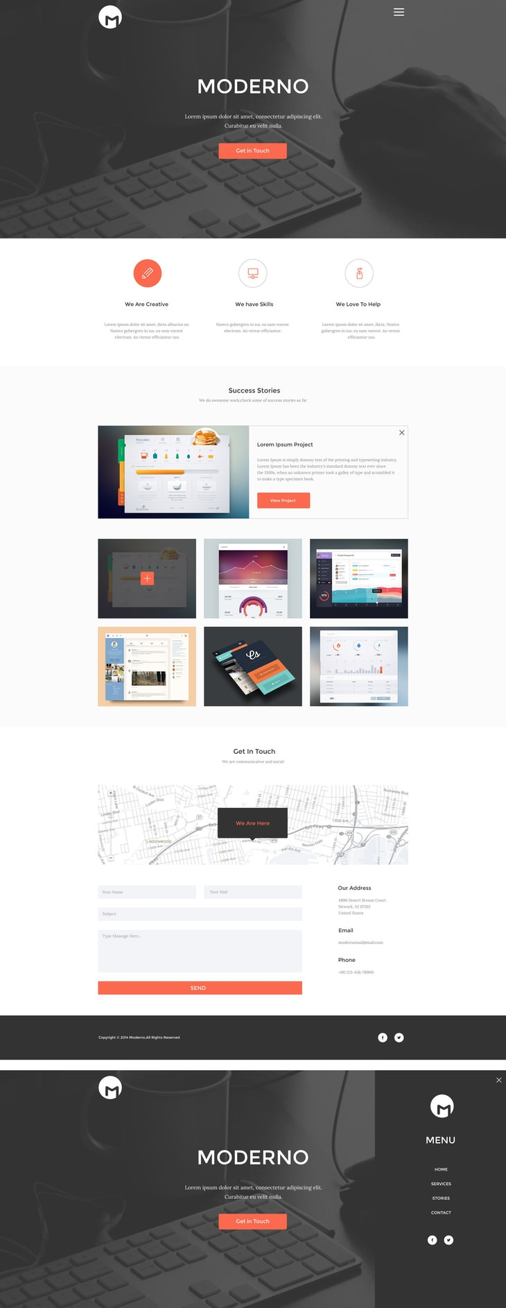 Creative Simple Portfolio Page