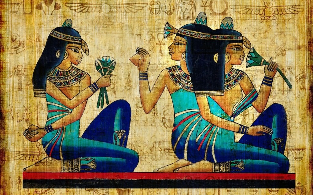Egyptian-Hieroglyphics-Papyrus-Painting-Art-HD-Wallpaper