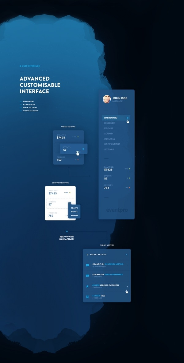Eventray UI kit