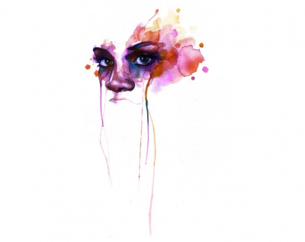 Face Water Colour painting