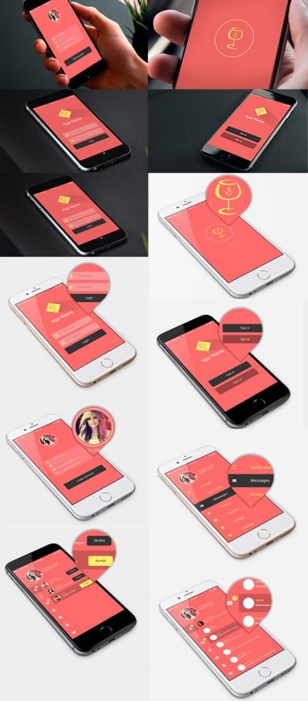 Flat-App-UI-Design-PSD