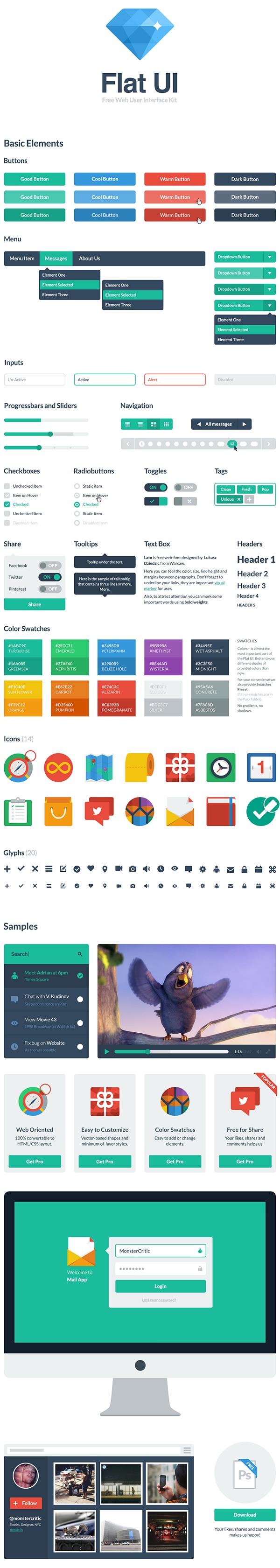 Flat UI – Free Bootstrap Theme