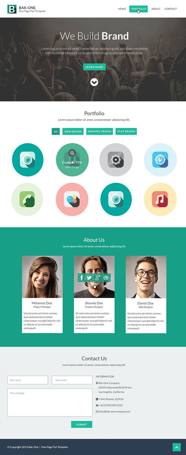 26  free one page psd web template designs