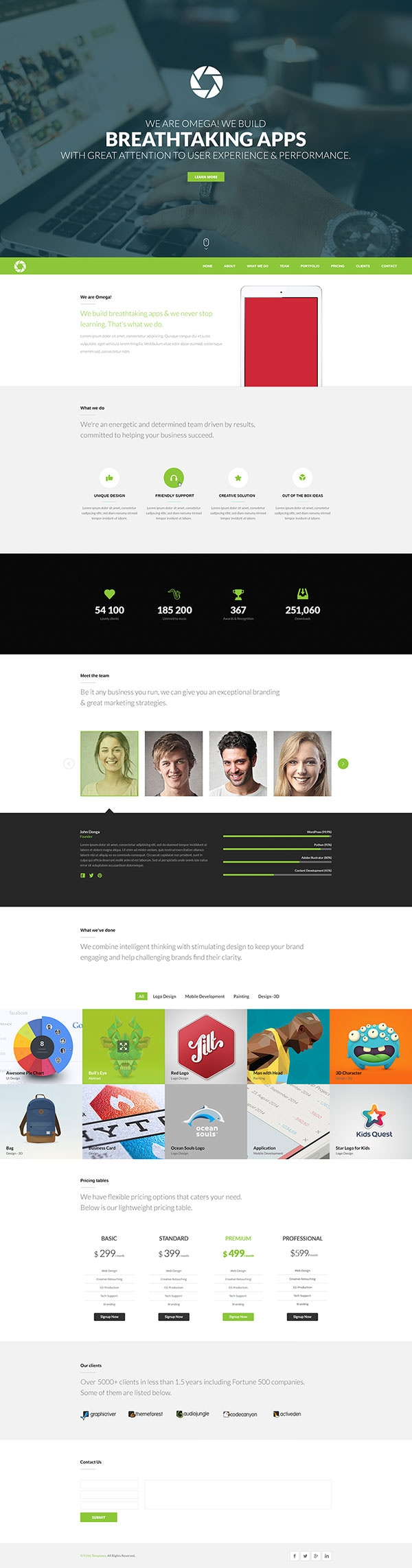 26 free one page psd web template designs free premium creatives free one page website template psd omega wajeb Choice Image